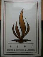 A2947) UN Gedenkfolder 1991 Mit Allen 3 Ausgaben Kpl. ** Unused - Gemeinschaftsausgaben New York/Genf/Wien