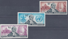 RWANDA - 1966 -   N° 144 - 145 - 146 -  NON DENTELES - XX - MNH - TB - - Rwanda