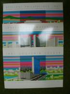 A2948) UN 3 Gedenkfolder 1981 Mit Allen 3 Ausgaben Kpl. ** Unused - Gemeinschaftsausgaben New York/Genf/Wien