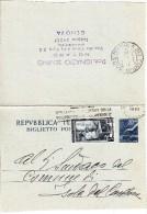 Intero Biglietto Postale  Democratica L. 20 + 5 Italia Lavoro  Genova X Isola Del Cantone - Interi Postali