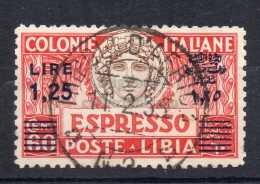 MC 1927  Libia Espresso 1,25 Lire Usato - Libye