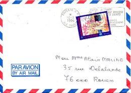 POLYNESIE. N°453 De 1994 Sur Enveloppe Ayant Circulé. Chien/Hong Kong'94. - Hunde