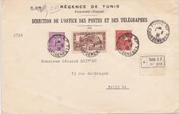 TUNISIE  LETTRE RECOMMANDEE - Algeria (1924-1962)