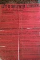 87 -  LIMOGES - RARE GRANDE AFFICHE POLITIQUE- ALLEGRET-LE PLAY-DEBREGEAS-LECLUSE-DE SAINT FLORENT-