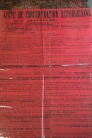 87 -  LIMOGES - RARE GRANDE AFFICHE POLITIQUE- ALLEGRET-LE PLAY-DEBREGEAS-LECLUSE-DE SAINT FLORENT- - Affiches