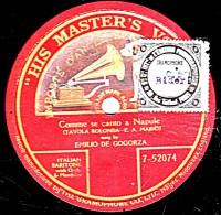 78 Trs -  HIS MASTER´S VOICE 7 - 52074 - 1 Face  L´Ange - état M - EMILIO DE GOGORZA - Comme Se  Canto A Naoule - 78 Rpm - Schellackplatten