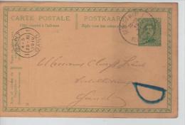 Entier CP 5c Albert I C.Berchem(VL) 19/11/1919 V.Gand Un Grand D En Bleu C.d'arrivée PR1464 - Stamped Stationery