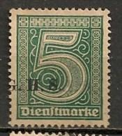 Timbres - Allemagne - Etranger - Dantzig - 1920 - Timbre De Service - 5 Pf. -