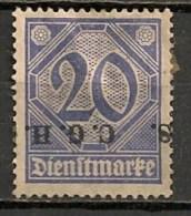 Timbres - Allemagne - Etranger - Dantzig - 1920 - Timbre De Service - 20 Pf. -