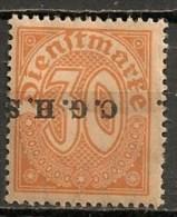 Timbres - Allemagne - Etranger - Dantzig - 1920 - Timbre De Service - 30 Pf. -
