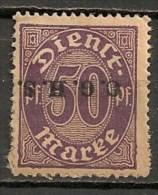 Timbres - Allemagne - Etranger - Dantzig - 1920 - Timbre De Service - 50 Pf. -