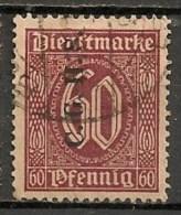 Timbres - Allemagne - Etranger - Dantzig - 1920 - Timbre De Service - 60 Pf. -