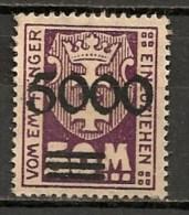 Timbres - Allemagne - Etranger - Dantzig - 1923 - 5000. -