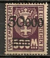 Timbres - Allemagne - Etranger - Dantzig - 1923 - 50.000. -