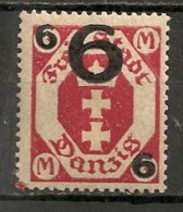 Timbres - Allemagne - Etranger - Dantzig - 1926/28 - 6 M. -
