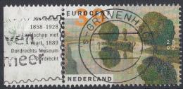 Nederland - Kunst: Landschappen - Jan Toorop - Gebruikt-gebraucht-used - NVPH 2095 Tab Links - Periode 1980-... (Beatrix)