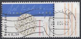 Nederland - 300 Jaar Johan Enschedé - Gebruikt-gebraucht-used - NVPH 2163 Tab Rechts - Periode 1980-... (Beatrix)