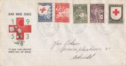 E14 - Rode Kruiszegels (1953) - NVPH 607 - 611 - FDC