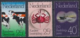 Nederland - Gelegenheidszegels - Rundvee - Kaknkerbestrijding - Reddingswezen - Postfris/MNH - NVPH 1052 - 1054 - Periode 1949-1980 (Juliana)