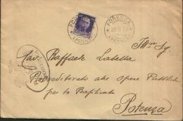 1939 FORENZA X POTENZA - Marcofilie