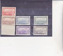 ALGERIE - POSTE AERIENNE N° 1 A 6 -sauf 1A Et 4A  - NEUF X  ANNEE 1946-47 - Poste Aérienne