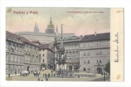 10909 -  Pozdrav Z Prahy Mistodrssitelstvi A Cesta Ku Kral. Bradu - Tchéquie