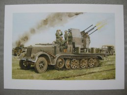 Reproduction De Dessin : Camion DCA  Allemand Deuxième Guerre Mondiale - Documentos