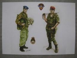 Reproduction De Dessin : Chasseur Parachutiste En Algérie Et Hussard Parachutiste - Documents