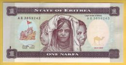 ERYTHREE - Billet De 1 Nakfa. 24-05-1997. Pick: 1. NEUF - Erythrée