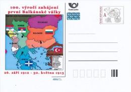 Czech Rep. / Postal Stat. (Pre2012/55) 100th Anniversary Of The First Balkan War (1912) - Geografía