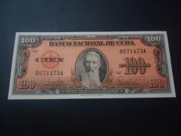 1959 CUBA RARE 100 PESOS ( P 93 ) - UNC -