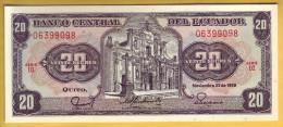 EQUATEUR - Billet De 20 Sucres. 22-11-1988. Pick: 121A. NEUF - Ecuador