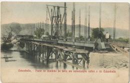 Catumbella Ponte Do Caminho De Ferro Em Construcçao Sobre O Rio Catumbella Buiding Railway - Angola