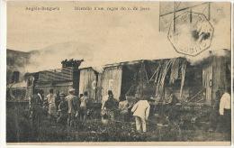 Angola Benguela Incendio N'um Vagon Do C. De Jerro Train Fire Burning P. Used Angola Lobito - Angola