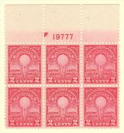 USA SC #654 MNH PB6  1929 Edison / Electric Lamp #19777, CV $42.50 - Plate Blocks & Sheetlets