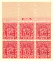 USA SC #680 MNH PB6  1929 Fallen Timbers #19825, CV $30.00 - Plate Blocks & Sheetlets