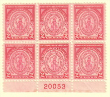 USA SC #682 MNH PB6  1930 Massachusetts Bay Colony #20053, CV $26.00 - Plate Blocks & Sheetlets