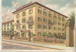 MONTECATINI TERME - ALBERGO E PENSIONE PARMA E ORIENTE (dessin) - Italie