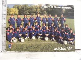 CPM équipe De France De Football  Féminine - Publicité Adidas - - Soccer