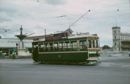 Railway Tram Color Slide Strassenbahn Australia, Bendigo 08-1965 50 - Treni