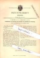 Original Patent - A. Gruner & Co In Leipzig-Reudnitz , 1884 , Priemtabak-Dose , Priem , Tabak , Kautabak !!! - Schnupftabakdosen (leer)