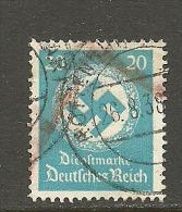 Deutsches Reich 1934 Dienstmarke Swastika Mit WZ Michel 140 O - Dienstzegels