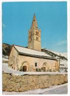 Près Guillestre--CEILLAC EN QUEYRAS--L'église Sainte Cécile (sous La Neige),cpm N°182 éd Cellard - France