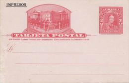 CHILE - 2 Centavos Ganzsache Auf Firmen-Postkarte Aus Valparaiso Mit Lithogr.Logo, Nicht Gelaufen, Gebrauchsspuren - Chile