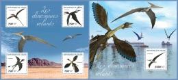 nig14324ab Niger 2014 Flying Dinosaurs 2 s/s