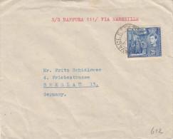 MALTA 194? - 2,5d Frankierung Auf Brief Gel.n. Breslau - Malta (Orden Von)