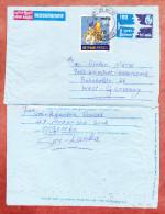 Aerogramme Flugzeug + ZF Prunkelefant, Negombo Nach Weinstadt-Endersbach 1978 (69421) - Sri Lanka (Ceylon) (1948-...)