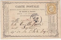 JARNAC (Charente)  15c Cérés Petits Chiffres  Annulation Non Réglementaire Par  TàD - 1849-1876: Classic Period