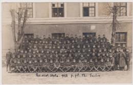 Trencin, Pod Dust Skola 1928 P.pl. 17, Kaserne, Soldaten-Portrait,  Photographenstempel - Uniformen