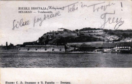 BELGRAD Totalansicht 1904? - 2 Sondermarken, Stempel Oberlaibach + Sonderstempel - Jugoslawien
